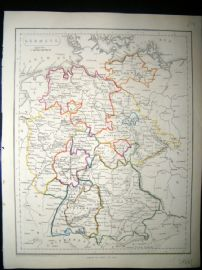 Becker C1840 Antique Map. Germany